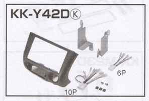 カナック オーディオ/ナビ取付キット KK-Y42D トヨタ P10系ヴィッツ前期/プラッツ前期/ファンカーゴ用
