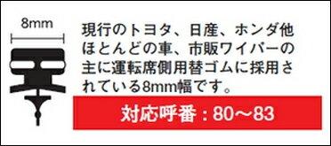 PIAA ピア WGW65 (呼番 82) スーパーグラファイト ワイパー替えゴム 650mm