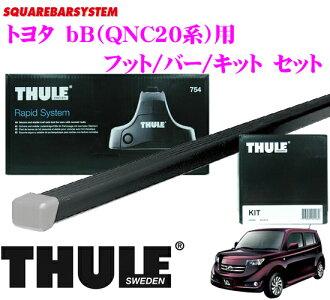 供THULE suritoyota bB(QNC21/25/20)使用的屋頂履歷裝設3分安排