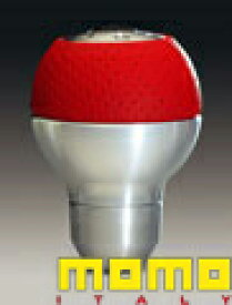 【11/19〜11/26 エントリー+楽天カードP12倍以上】MOMO モモシフトノブ SK-26 RACE AIR LEATHER ALUMINIUM RED (レース エアーレザーレッド)