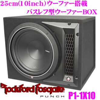RockfordFosgate鎖頭福特PUNCH P1-1x10 25cm副低音揚聲器搭載低音反射型烏她箱