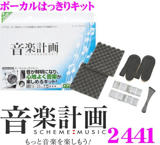エーモン工業 音楽計画 2441 ボーカルはっきりキット 【音が鮮明になり、心地よく音楽が楽しめるキット!】