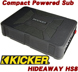 20cm thin パワードサブウーファー (woofer with a built-in amplifier) mounted with KICKER kicker HIDEAWAY HS8 rating 150W amplifier