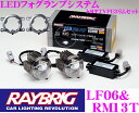 RAYBRIG レイブリック トヨタTYPE3 LEDフォグランプシステム LF06&RM13Tセット 【超高輝度500lmと純白光6200K 本体+…