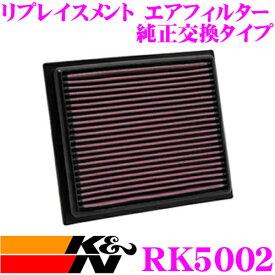 K&N 純正交換フィルター 33-3118 ホンダ ジェイド用リプレイスメント ビルトインエアフィルター純正品番:17220-5M1-H00など対応