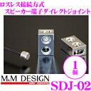 M&Mデザイン スピーカーダイレクト端子 SDJ-02 1個入り ロスレス接続ロジウムメッキ接続端子 【平型端子(ファストン…