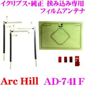 ArcHill アーク ヒル AD-741F GPS+フルセグ デジタルフィルムアンテナ イクリプス・純正 挟み込み専用アンテナ
