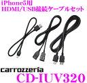 カロッツェリア CD-IUV320 iPhone5用HDMI/USB接続ケーブルセット