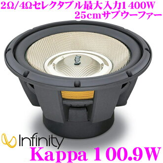 無窮大 ★ 無窮大 Kappa 100.9 W 2 Ω / 4 Ω 可選最大輸入 1400 W25cm 低音炮