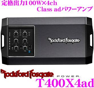 RockfordFosgate Rockford POWER T400X4ad rating output 100W X 4ch power amp