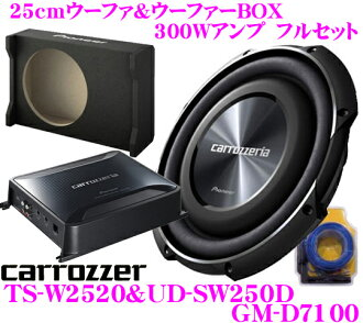 25cm sub woofer full set with carrozzeria 300W amplifier