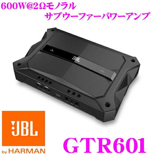 JBL ジェイビーエル GTR601 600W@2Ω 車載用モノラルサブウーファーパワーアンプ