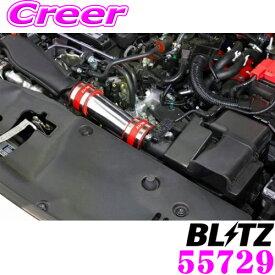 BLITZ ブリッツ 55729 ホンダ FK7 シビックハッチバック用 シリコンホース色:レッド SUCTION KIT サクションキット