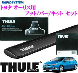 供THULE suritoyotaorisu使用的屋顶履历装设3分安排(黑色)