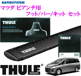 供THULE surimatsudabiante使用的屋頂履歷裝設3分安排(黑色)