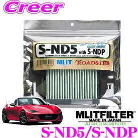 MLITFILTER エムリットフィルター S-ND5/S-NDP マツダ ND型 ロードスター専用 エアコンフィルター 【花粉やPM2.5を除去して抗菌・防臭!】