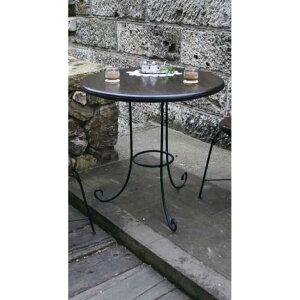 【ジャービス商事】アイアンチークテーブル 34215 直径70cm【室内用テーブル】【代引不可】