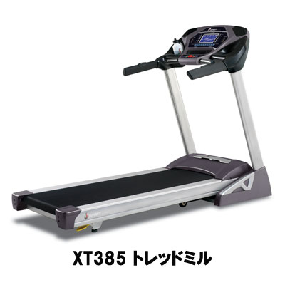 DYACO(ダイヤコ) SPIRIT FITNESSトレッドミル XT385 + DJM-900 (専用マット付き) + CBT PULSE TRONIC (チェストベルト付き)【組立設置込】)【代引不可】