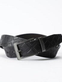 [Rakuten Fashion]エンボスクレストブリッジチェックリバーシブルベルト BLACK LABEL CRESTBRIDGE ブルーレーベル / ブラックレーベル・クレストブリッジ ファッショングッズ ベルト ブラック ブラウン【送料無料】