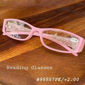 【定形外郵便送料無料】Reading Glasses リーディンググラス S95557 ピンク 度数+2.00【DULTON/ダルトン】おしゃれ/清楚/花柄/老眼鏡/シニアグラス/メガネ/眼鏡/めがね/読書 即納