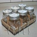 【DULTON】Glass jar with handle 6個セット S415-178 取っ手付きガラスジャー ダルトングラスジャーウィズハンドルジャーサラダ...
