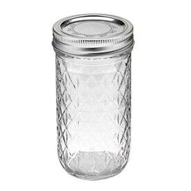【Ball】 Quilted Crystal Jelly Jars 12 OZ 335ml 【81400】REGULAR MOUTH Made in U.S.A. ボール クリスタル ジェリージャー レギュラーマウス アメリカン