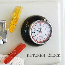 100-193 KITCHEN CLOCKダルトンキッチンクロックマグネット付きゆうメール送料無料発送 時計レトロ カワイイカラフル mini 電池 長針 短針 秒針