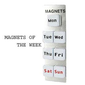 DULTON S126-07 MAGNETS OF THE WEEK マグネット オブ ザ ウィーク〜曜日マグネット〜 【ゆうパケット発送】磁石 マグネット スケジュール キッチン オフィスマグネット7個(取り寄せ後発送)