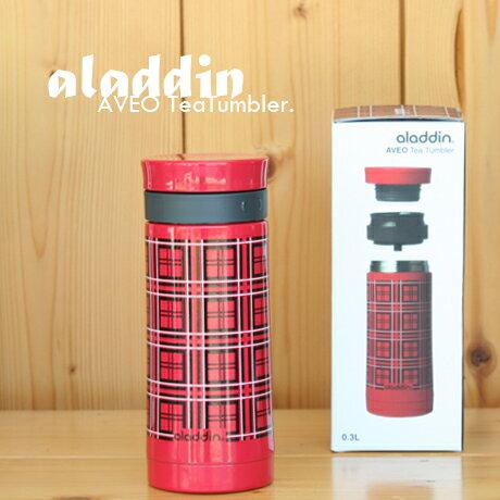 aladdin(アラジン) AVEO SS レッドチェック 0.3Lタンブラー/AVEO TeaTumbler0.3L/水筒 10-01225-008