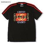 【M〜3XL】IMPERIOUSTシャツ【GRIND薔薇】ビッグサイズアメリカンラグジュアリーメンズ大きいサイズLLL3L4L【メール便可】