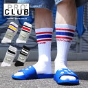 PROCLUB プロクラブ 【 クルーソックス / ストライプ 】 靴下 クルー丈 メンズ PRO CLUB US チカーノ ローライダー ス…