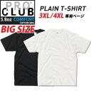 【3XL 4XL】 無地 Tシャツ 【5.8oz コンフォート生地】 半袖 プロクラブ メンズ PRO CLUB PROCLUB USサイズ BIGサイズ 大きいサイズ ビッグ L LL 2L 3L