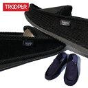 TROOPER 【 ハウスシューズ コーデュロイ 】 無地 メンズ メンズ スリッパ ルームシューズ 室内用 靴 SANDALS SLIPPER ブラック ネイビー チカーノ ローライダー CHICANO HIPHOP LOWRIDER HOUSE SHOES