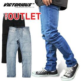 【訳ありアウトレット】 VICTORIOUS 【ストレッチ スキニーパンツ】 ウォッシュ デニム ロングパンツ ヴィクトリアス 伸縮 SKINNY USサイズ メンズ ズボン