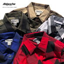 【L〜3XL】 ABLANCHE 【 フランネル チェックシャツ 】 ネルシャツ 長袖 ブロックチェック 大きいサイズ メンズ チェ…