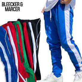 【M〜2XL】BLEECKER & MARCER 【ラインパンツ トラックパンツ】 ジャージ パンツ スポーツMIX スポーツコーデ アスレジャー ジョガーパンツ ブリーカー マーサー HIPHOP スオリート メンズ 大きいサイズ ビッグサイズ M L LL 2L 3L 4L