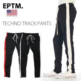 【送料無料】EPTM 【ライン入り テクノトラックパンツ】ジャージパンツ ラインパンツ ロングパンツ B系 ヒップホップ ストリート系 メンズ L LL 2L 3L 4L 5L エピトミ LINE TECHNO TRUCK PANTS スリム
