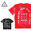 【M〜2XL】RISE AS 1NE Tシャツ【CHICAGO オールドイングリッシュ】アシッドウォッシュ加工 OLD ENGLISH ASIDWASH US…