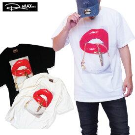 【L〜4XL】 RMAX 【Chain Reaction 唇 ネックレス】 Tシャツ セクシーレディー SEXY LIPS リップ ビッグサイズ アメリカン アトランタ TEE フォトプリント メンズ 大きいサイズ