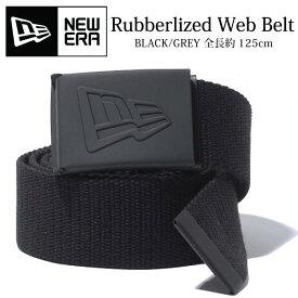 ニューエラ ベルト NEW ERA ラバーロゴ ガチャベルト メンズ サイズ調整可能 フリーサイズ カジュアル ラバーライズド ウェブ ベルト ユニセックス NEWERA RUBBERIZED WEB BELT