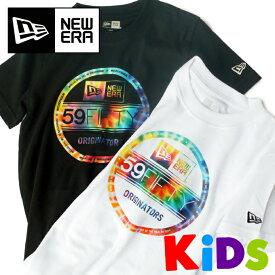 【130〜160】ニューエラ キッズ Tシャツ 【 タイダイ 】 バイザーステッカーロゴ カラフル NEW ERA KIDS 出産祝い 子供用 男の子 女の子 NEWERA TIEDYE 【メール便可】