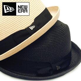 NEW ERA ニューエラ ハット 【フェドーラ THE FEDORA 】 ペーパーロープ ストローハット NEWERA メンズ レディース ユニセックス 帽子 HAT グログランバンド 11901139 11901138