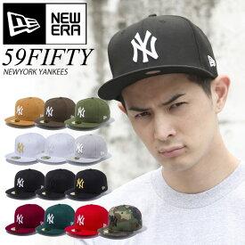 ニューエラ キャップ NEW ERA CAP NY ニューヨークヤンキース NEWERA サイズあり 59FIFTY 帽子 大きいサイズ MLB ベースボールキャップ 定番 ベーシック ストレートキャップ 5950 大きいサイズ