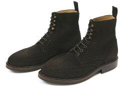貝裡克翼晶片靴暗棕色麂皮絨 (貝裡克 322 SUPERBACK 巧克力)