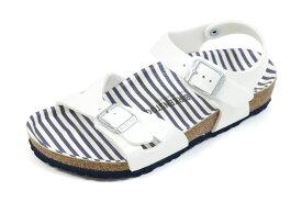 【ポイント10+4倍】ビルケンシュトック キッズサンダル リオ ノーティカルストライプホワイト (BIRKENSTOCK Rio Kida Nautical Stripes White)