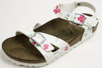 Birkenstock Bilkey kids Sandals Tuvalu スメルオブフラワー white ( Flowers Smell of of Tuvalu, BIRKENSTOCK Birki's White ) 10P28oct13