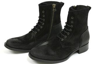 Buttero 系带的靴子黑色麂皮绒 (BUTTERO B2904 PE SCAA NERO) 10P05Nov16
