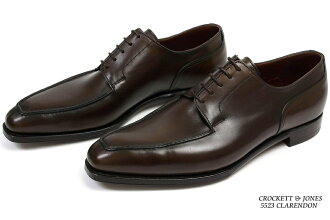 Crockett&Jones手等级U chippukurarendondakuburaun(CROCKETT&JONES CLARENDON DARKBROWN ANTIQUE CALF)