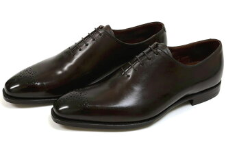 Crockett&Jones手等級禮堂cut韋茅斯2暗褐色(CROCKETT&JONES WEYMOUTH2 DARKBROWN ANTIQUE CALF)