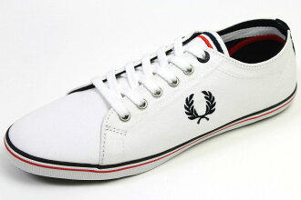 Fred-canvas sneakers Kingston white (FRED PERRY KINGSTON TWILL WHITE)